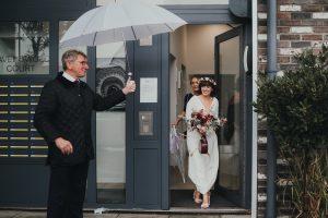Bride leaves for wedding