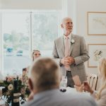 father of the bride doing his speech