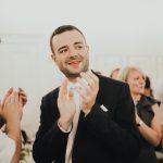 guest clapping wedding speech