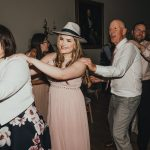 the guests have a conga line