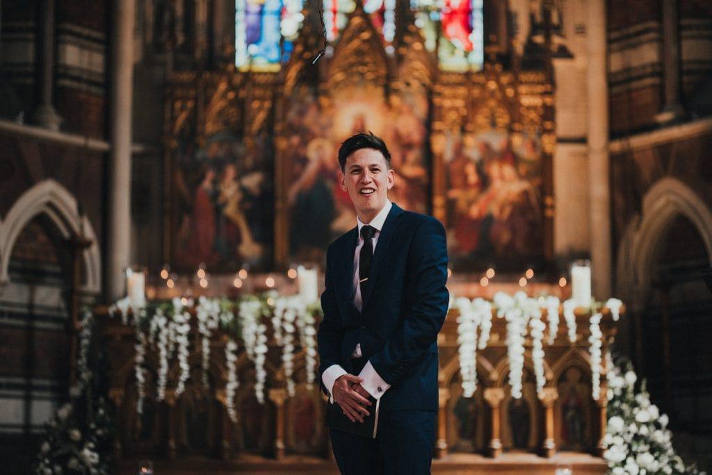 preacher at wedding ceremony