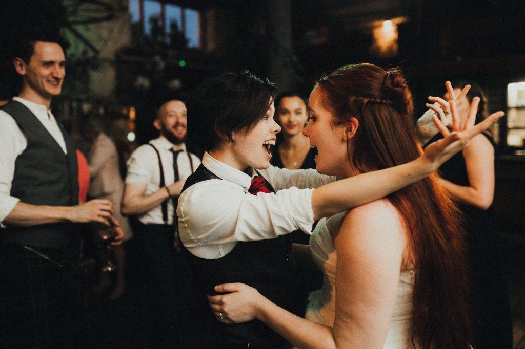 brides enjoying the dancefloor