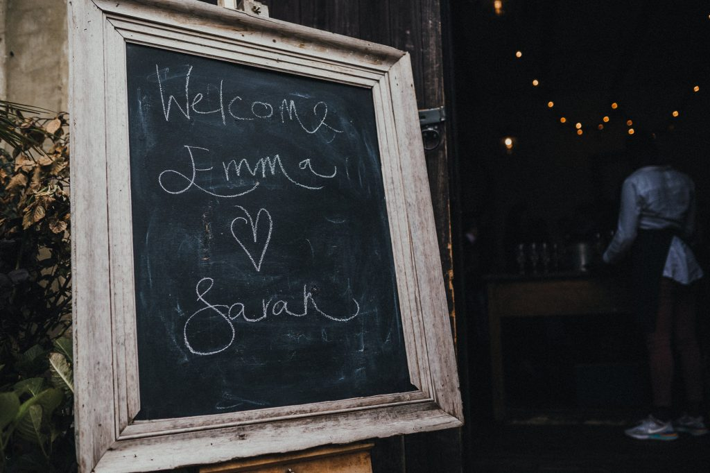 blackboard welcoming people to clapton country club