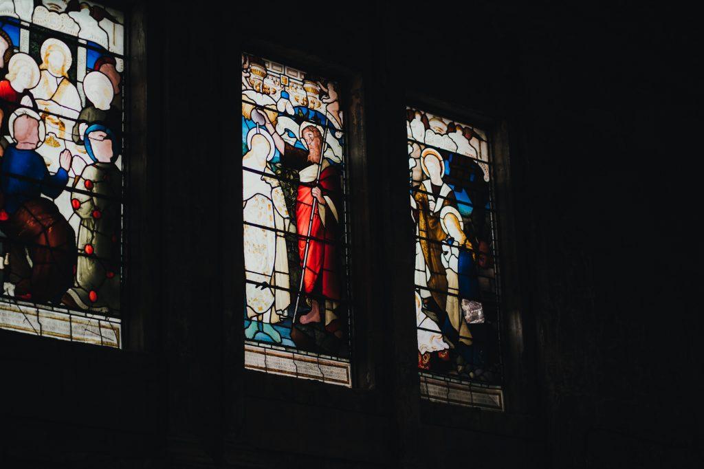 asylum chapel stained glass window