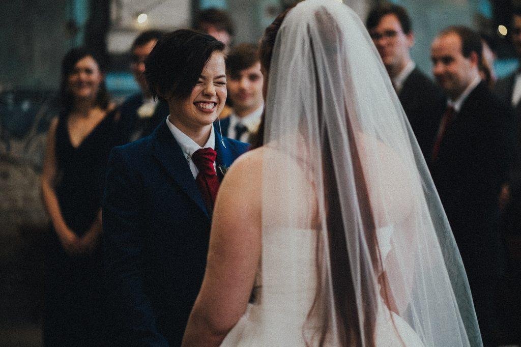 bride with big smile