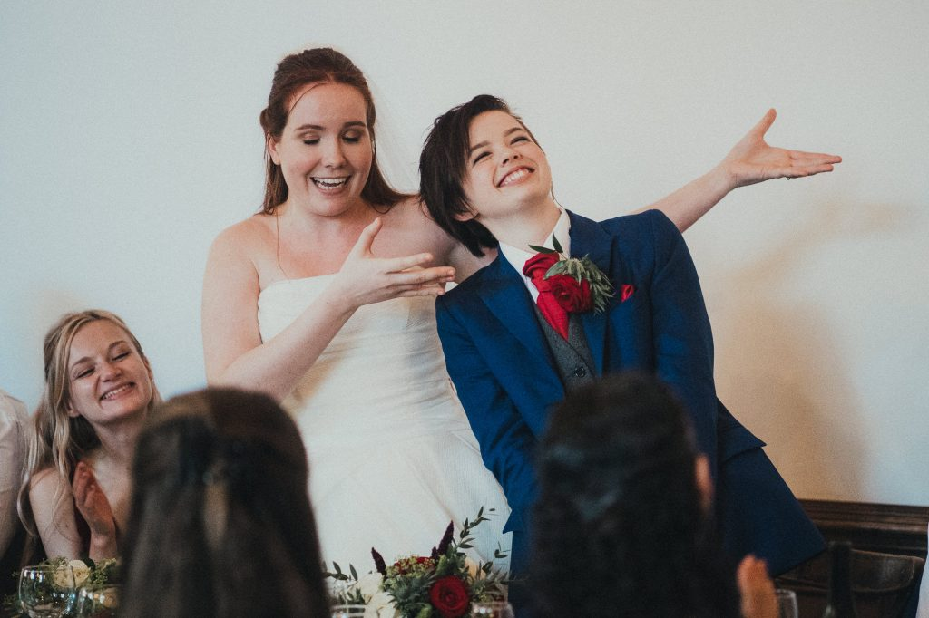 bride presenting her wife