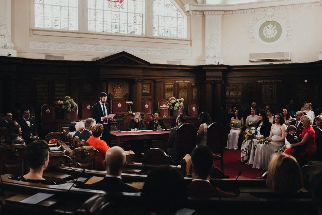 reading during wedding ceremony