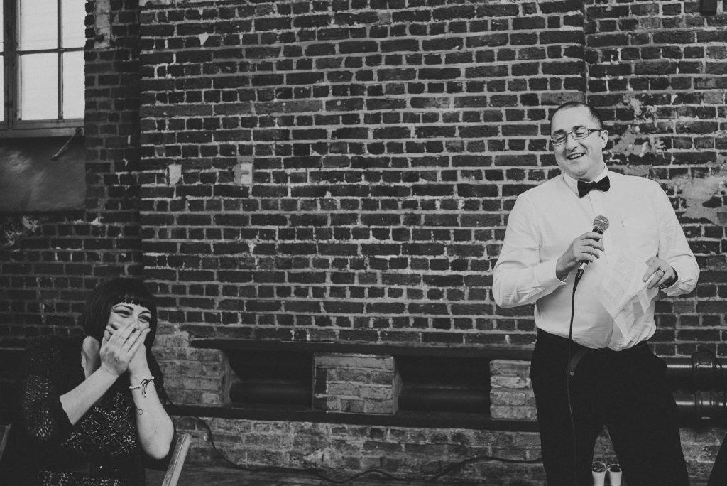 guest laughs at best man's speech