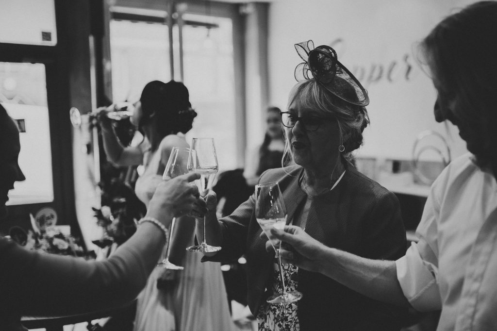the mother of the groom toasting