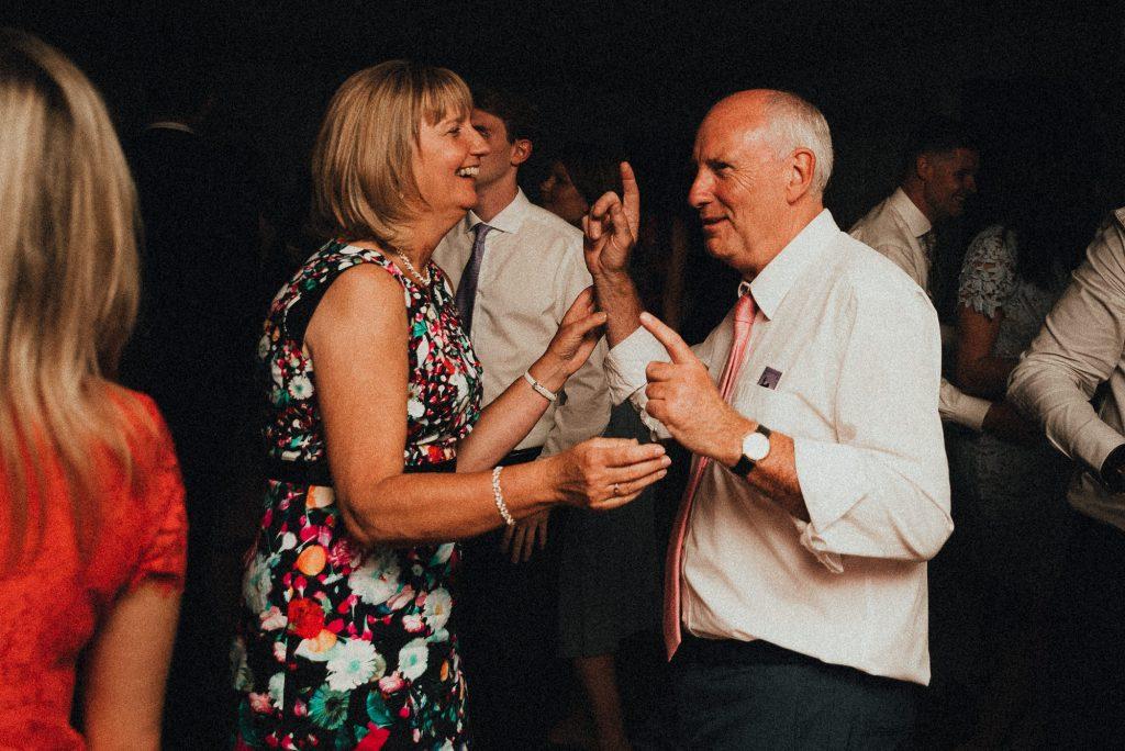 father of the groom dancing on dancefloor
