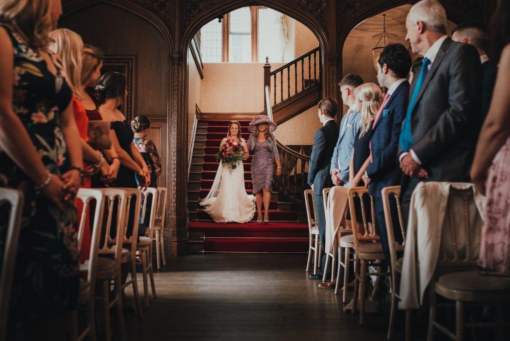 brides arrives in venue