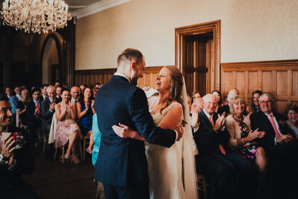 bride and groom happy after getting married