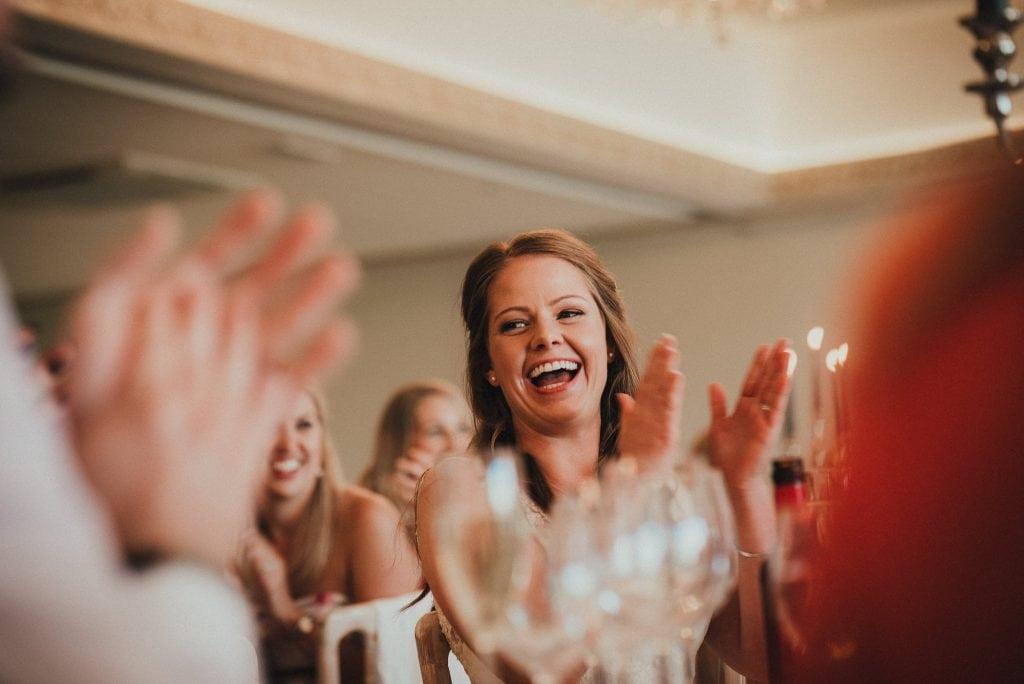 bride clapping speech