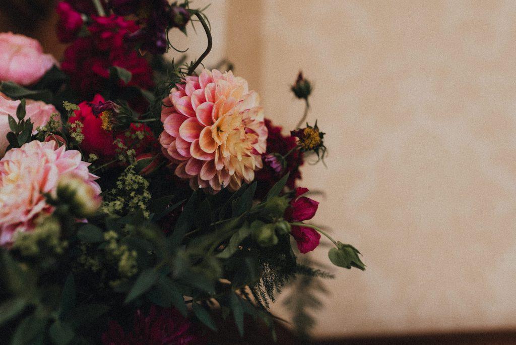 flowers in ceremony room